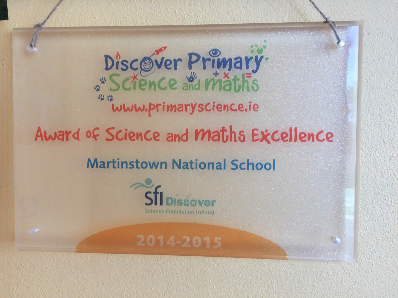 Discover Primary Science & Maths Award
